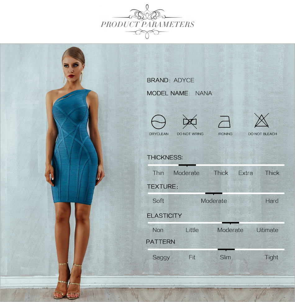 H653d75c5e5844235928032678b11901fO - Adyce 2020 New One Shoulder Summer Women Bodycon Bandage Dress Sexy Hollow Out Sleeveless Midi Celebrity Runway Party Club Dress