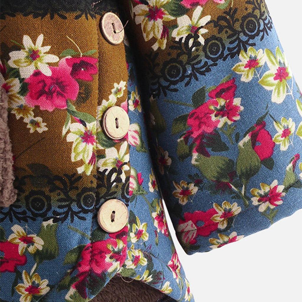 H653d763dbb7947c4ac742a3d218601e1n Female Jacket Plush Coat Womens Windbreaker Winter Warm Outwear Retro Print Hooded Pockets Vintage Oversize Coats Plus Size 5XL