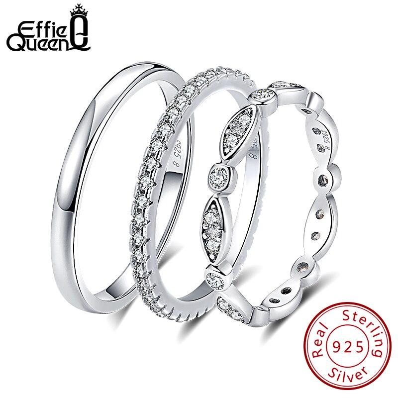 Effie Queen véritable 925 bague en argent Sterling pour hommes femmes Couple anneaux bague de mariage femme bague en gros bijoux BR74