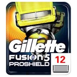 Съемные лезвия для бритвы для мужчин Gillette Fusion ProShield Blade для бритья 12 сменных кассетов картридж для бритья