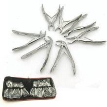 7 قطعة الفولاذ المقاوم للصدأ ملقط أسنان الأطفال الأسنان استخراج Forcep كماشة كيت تقويم الأسنان أدوات مخبرية أدوات
