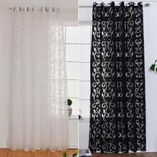 White Curtain Semi-Blackout Window Living-Room Voile Fabrics Decoration Luxury for New