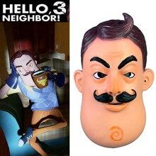 Horror Spiel Hallo Nachbar Maske Cosplay Requisiten Latex Vollen Kopf Helm Frauen Männer Halloween Nachbar Masken