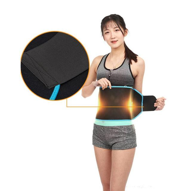 Women And Men Adjustable Elastic Waist Support Belt Nylon Lumbar Back Sweat Belt Breathable Fitness Belt Waist Trainer 2