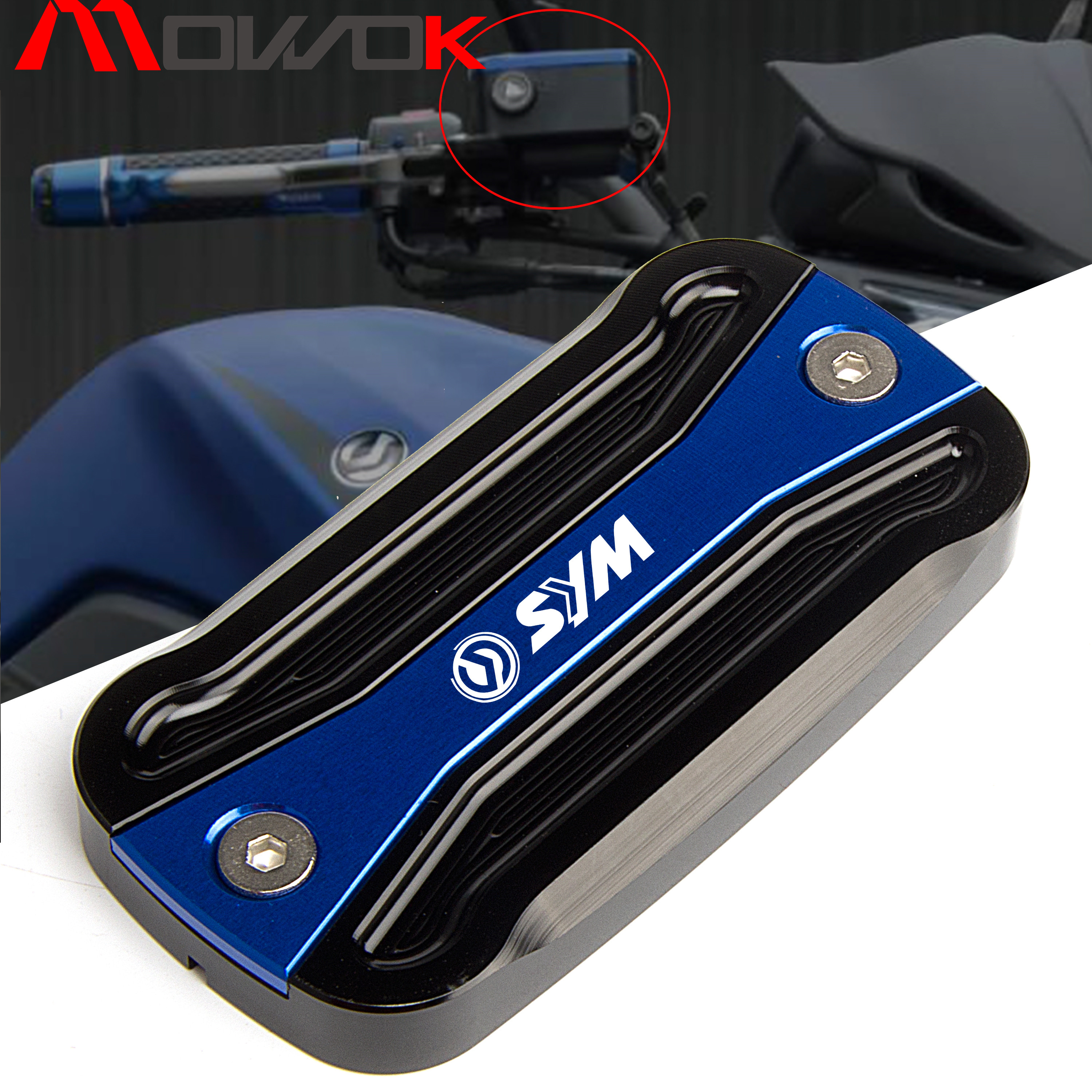 motorcycle accessories New sale Front Brake Fluid Reservoir Cover Cap For <font><b>SYM</b></font> T2 T3 <font><b>MAXSYM</b></font> 400 <font><b>400i</b></font> 600 600i image
