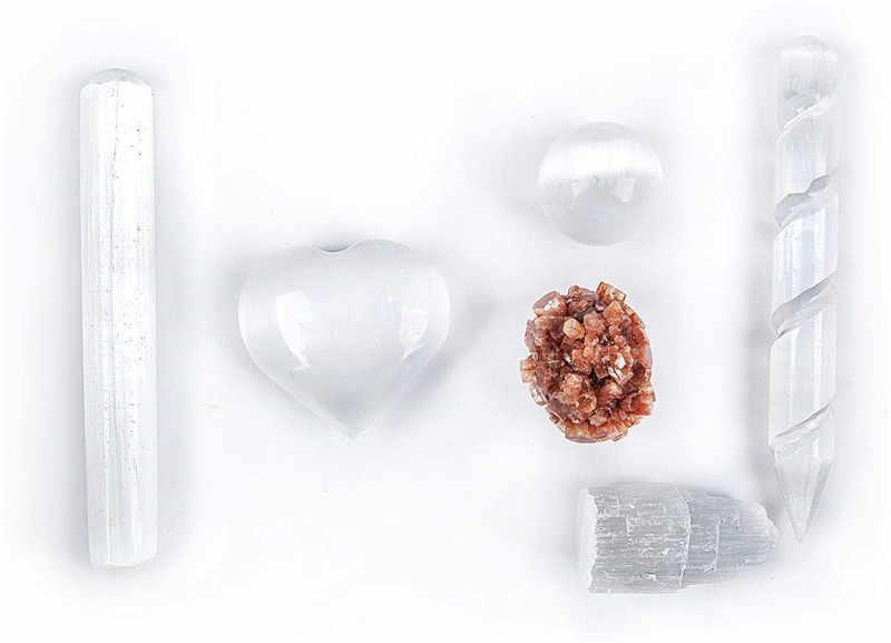 טבעי סלניום קריסטל שרביט מגדל מדיטציה רייקי ריפוי נפשי בהירות סלניום גביש להסיר שלילי אנרגיה 1pcs