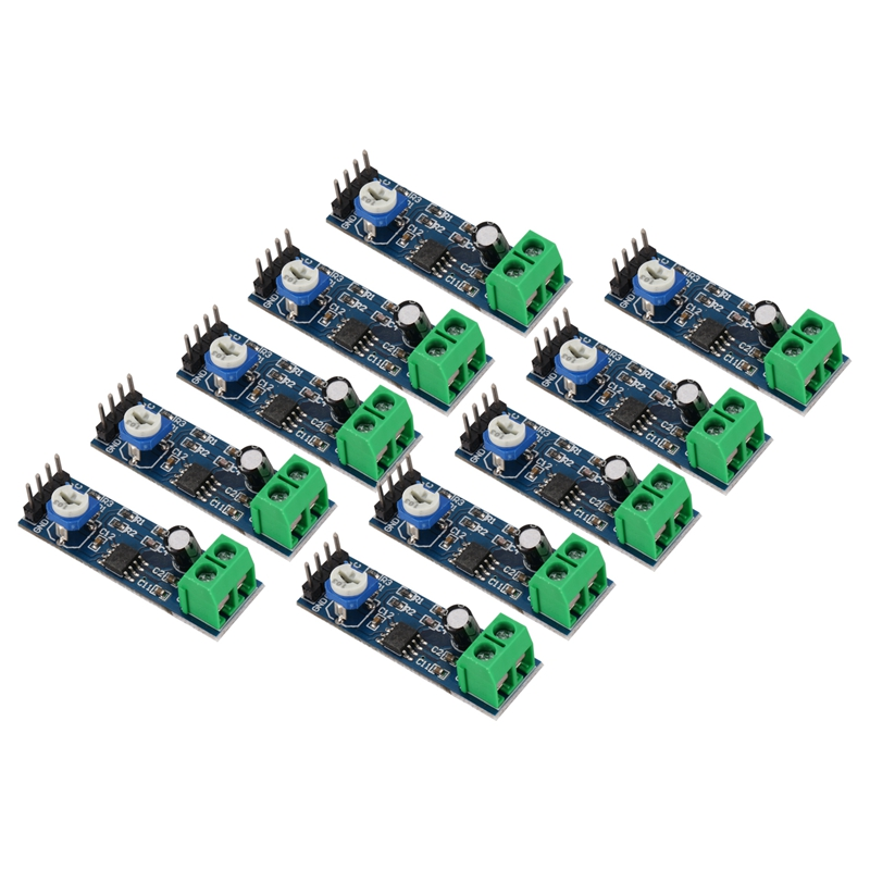 JABS LM386 Audio Power Amplifier Module 200 Times Gain Amplifier Board Mono Power Amplifier 5V-12V Input