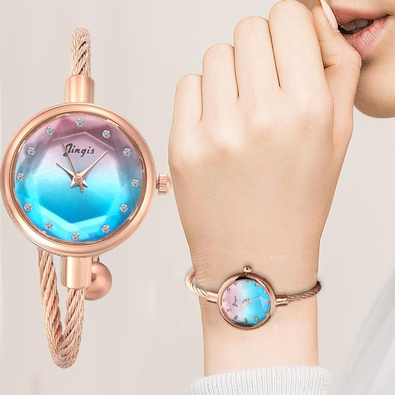 Luxury Starry Sky Bracelet Watches Women Fashion Shine Diamond Elegant Ladies Bangle Wristwatches Female Quartz Montre Femme
