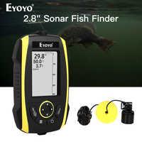 Eyoyo E4 Tragbare Fisch Finder 0,6-72 m Sonar LCD Echo Signalgeber Fishfinder echolot für angeln tiefer smart sonar chirp
