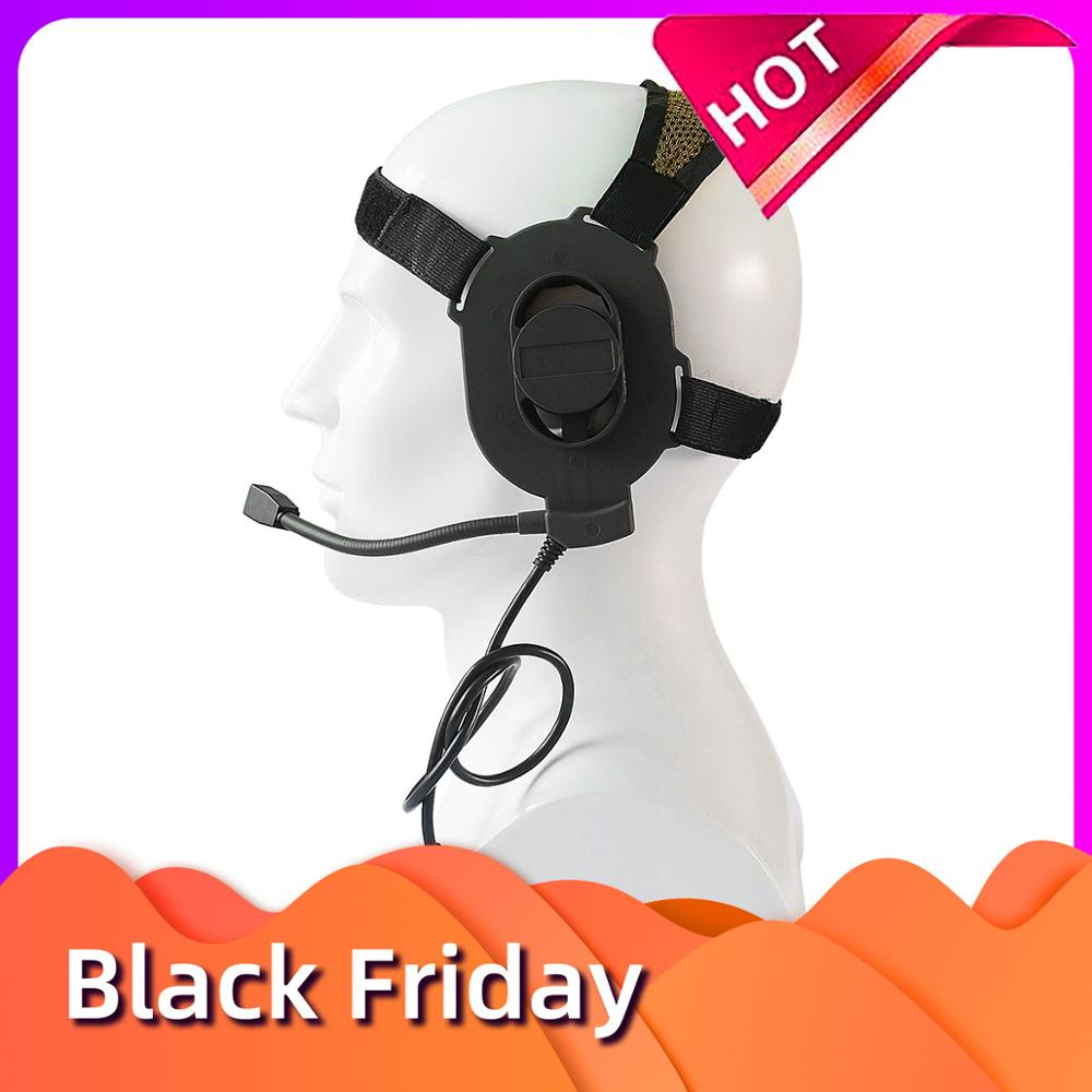 Tactical Headphones Adjustable Harness Military Airsoft Paintball Hunting Sniper Bowman Elite II Headphones For All PTT Plugs