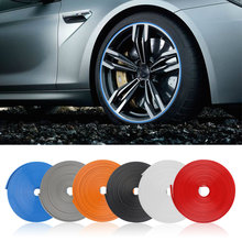 Protectores de llantas de 8M para coche, pegatinas protectoras de Nuevo estilo para uso Universal, fácil instalación