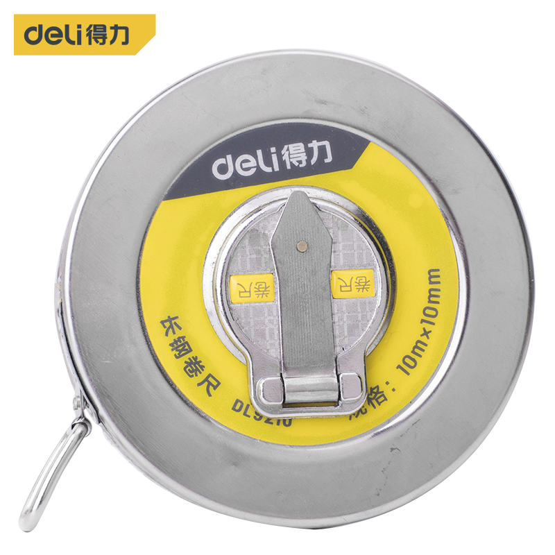 Deli 10m Hand Disc Flexible Ruler Measuring Tool Fiber Measuring Tape Hand Tools For Engineering Measuring High Quality Good For Energy And The Spleen