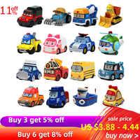 Купить 3 получить 5% Robocar Poli Фигурки детские игрушки Робот Поли Рой Хейли Аниме Металл Фигурку Игрушечный автомобиль для детей Подарок на ден...