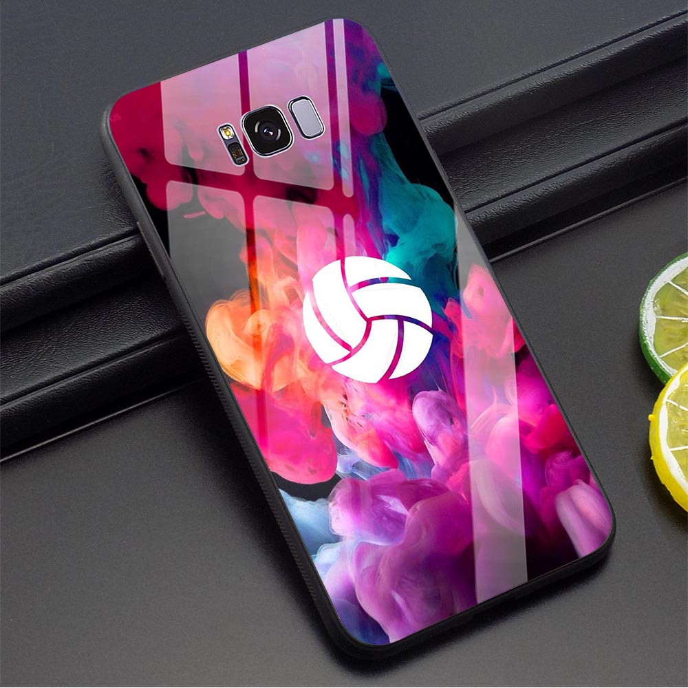 Volleyball Art Phone <font><b>Case</b></font> for <font><b>Samsung</b></font> S7 Edge Cover Note 8 9 10 Plus S8 S9 S10 A10 A20 A30 A40 A50 A60 <font><b>A70</b></font> M40 <font><b>Tempered</b></font> <font><b>Glass</b></font> image