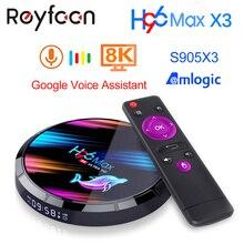 Android 9.0 TV Box H96 MAX X3 4GB 128GB 64GB 32GB Amlogic S905X3 Supporto 5G wifi 1080p 60fps 4K Giocatore Google Youtube 8K H96MAX