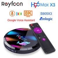 Android 9 0 TV Box H96 MAX X3 4GB 128GB 64GB 32GB Amlogic S905X3 Unterstützung 5G wifi 1080p 4K 60fps Google Player Netflix Youtube 8K