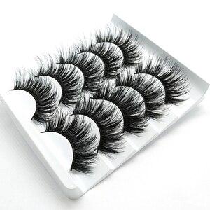 Image 5 - SEXYSHEEP 5pair 3D Faux Mink Eyelashes Natural False Lashes Wispy Makeup Beauty Extension Tools maquiagem faux cils