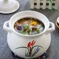 Cerâmica doméstica caçarola sopa panela de pedra arroz macarrão panela de sopa orquídea branca alta temperatura resistente caçarola panelas