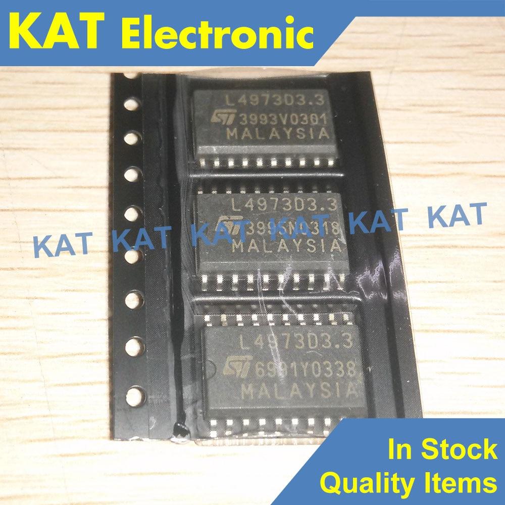 5PCS/Lot  L4973D3.3 L4973D SOP-20 3.5A STEP DOWN SWITCHING REGULATOR