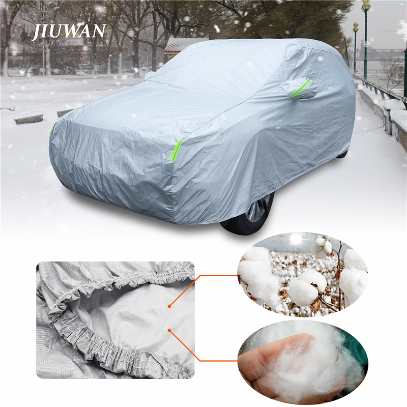 Universal Sedan SUV Car Covers 6 Layers All Weather Waterproof  UV Protection Windproof Snow-Proof Dust-Proof Scratch Resistant