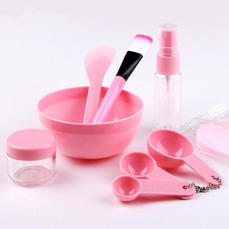 9pcs DIY Facial Mask Tool Mixing Bowl Brush Spoon Stick Beauty Makeup Set Cosmetic Tool