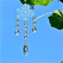 snowflake suncatcher craft rainbow collection crystal hanging suncather prism window outdoor garden decoration housewarming gift