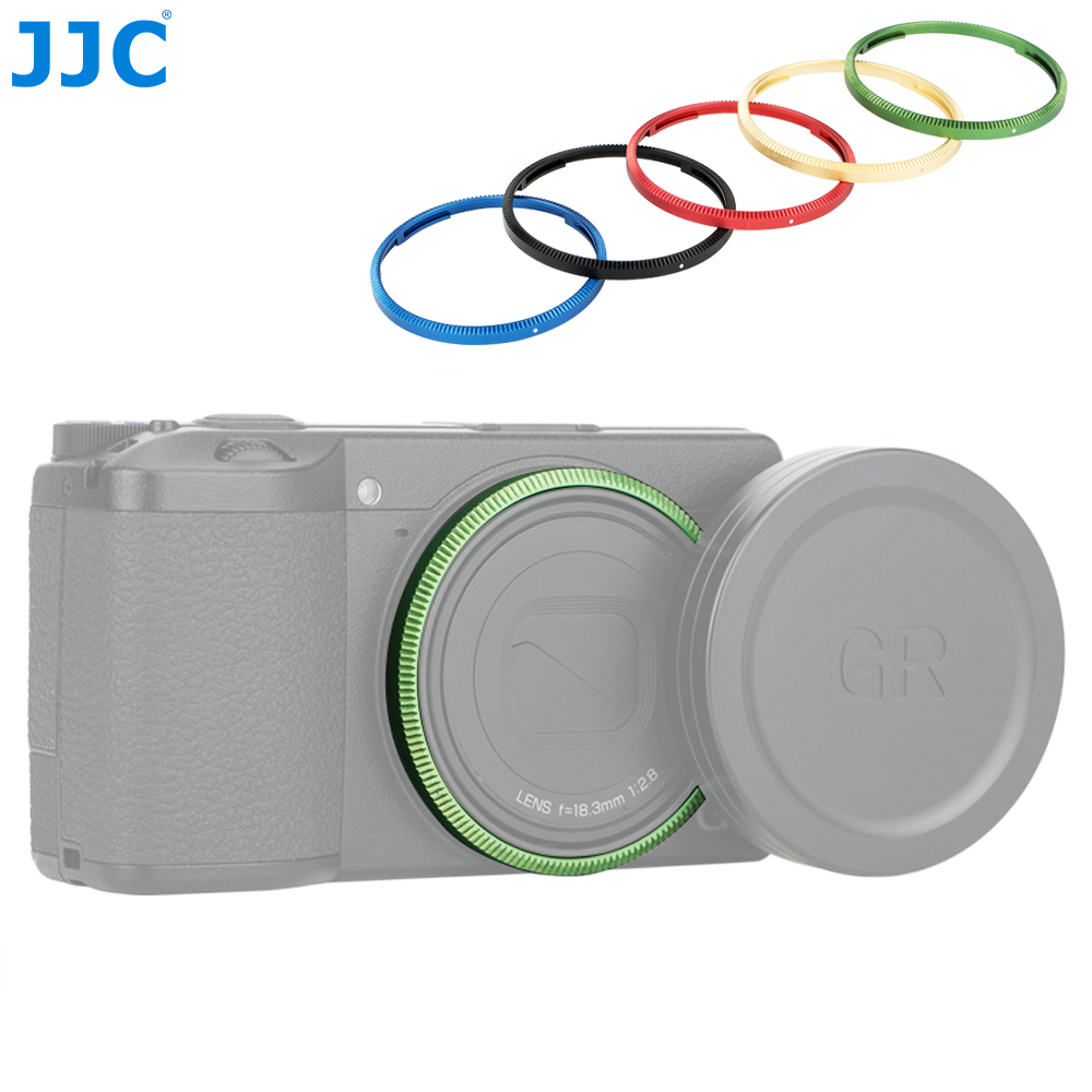 JJC Lens Ring For Ricoh GR III GRIII GR3 Camera Replaces Ricoh GN-1 Lens Decoration Ring Cap