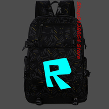 Robloxer Game Bag School Canvas Luminous Bagpack 2019 Men Backpack Teenagers Schoolbags Student