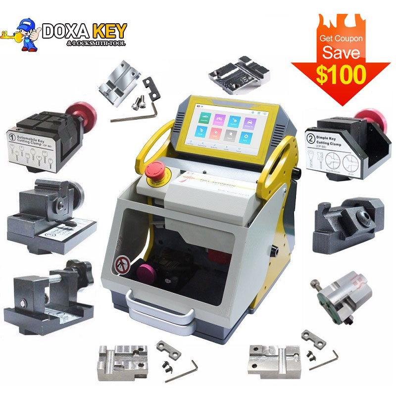 2020 Newest SEC E9 12 Clamps CNC Automatic Key Cutting Machine For Car Keys & House Keys Better Than Slica I80 Key Machine