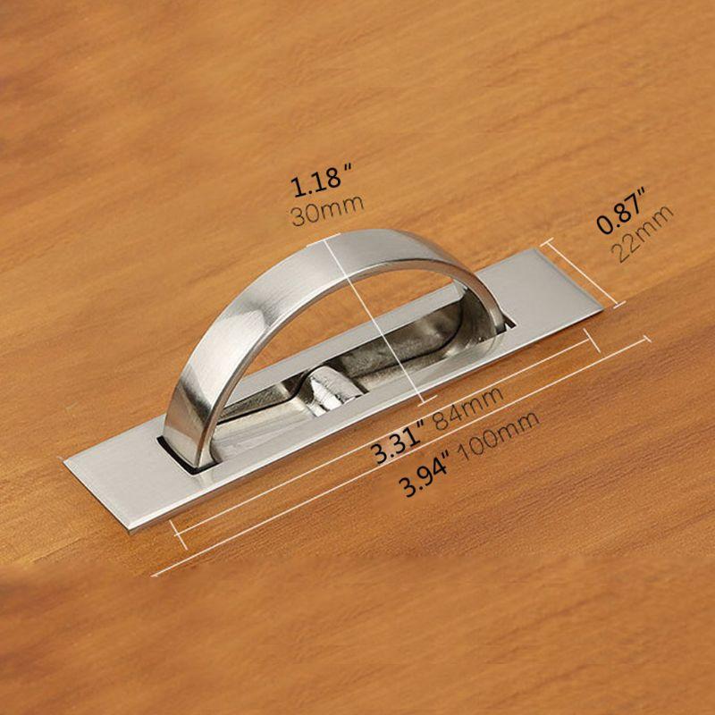 InvisibleTatami Cabinet Drawer Handle Rotating Hidden Grip Pulls Handld Hardware
