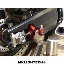 MKLIGHTECH Motorcycle Accessories CNC Aluminum Chain Adjusters Tensioners For HONDA CB650R CB 650R 2019