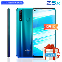 original vivo Z5x Mobile Phone 6.53 Screen 8G 128G Snapdragon710 16MP Camera 5000mAh Battery 18W Charge celular Cell Smartphone