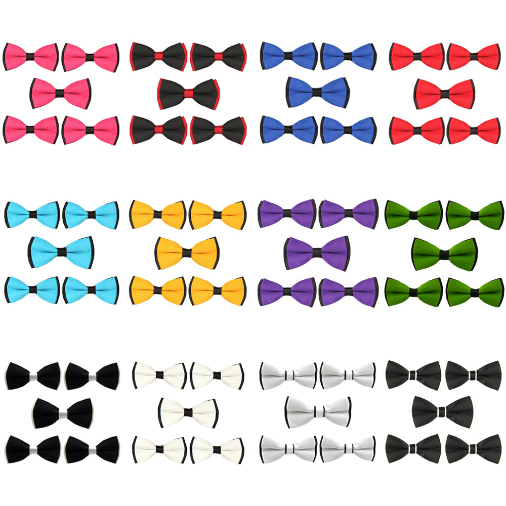 5 Packs Men's Classic Pre-tied Bow Tie School Party Wedding Adjustable Bowties