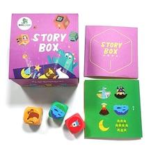 Детская история, Волшебная коробка для родителей и детей, Интерактивная настольная игра с выражением языка, рекламная игра, творческая коробочка, развивающая игрушка
