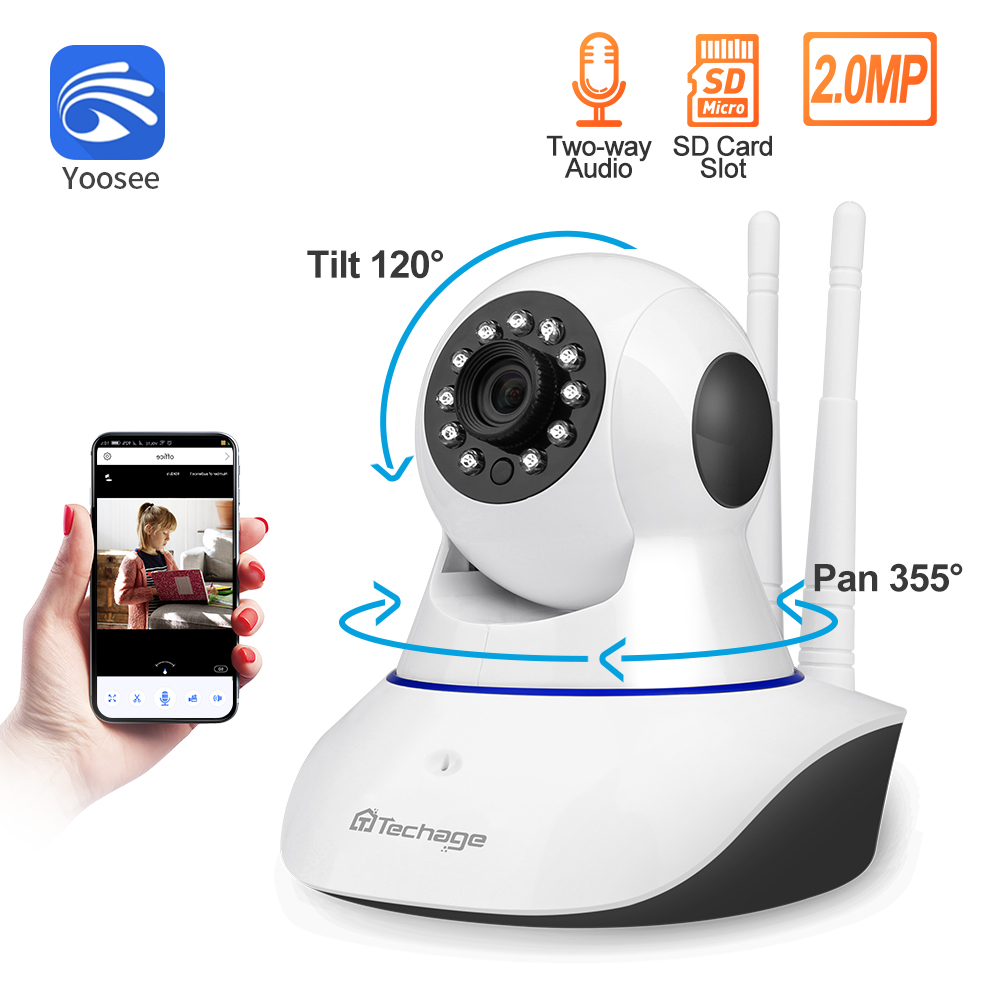 Yoosee 1080P Wireless IP Camera Pan/Tilt 2MP Dome Indoor Two-Way Audio CCTV WiFi Camera Home Video Security Surveillance