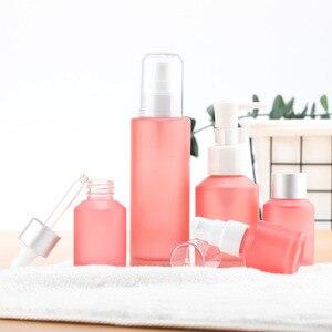 15ml-100ml Pink Glass Empty Perfume Spray Bottle Fine Mist Atomizer Refillable Bottles Vial Essential Oil Cosmetic Travel Bottle