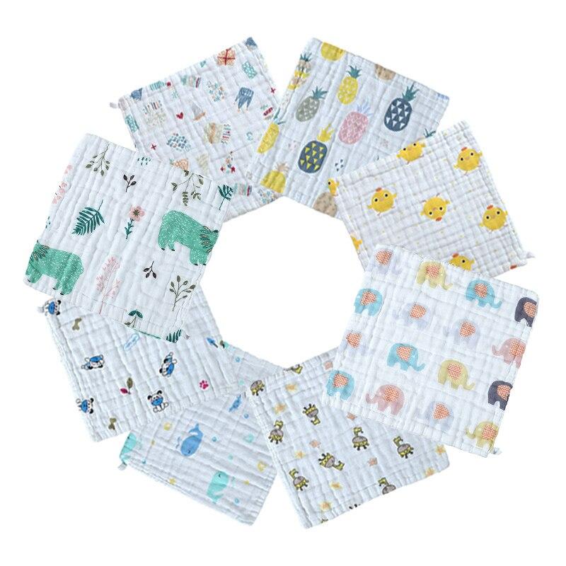 1Pc Baby Bibs Towel For Newborn Bedding Muslin Cotton Infant Towels Bath Soft Cloth Toddler Bib Size 25*25cm