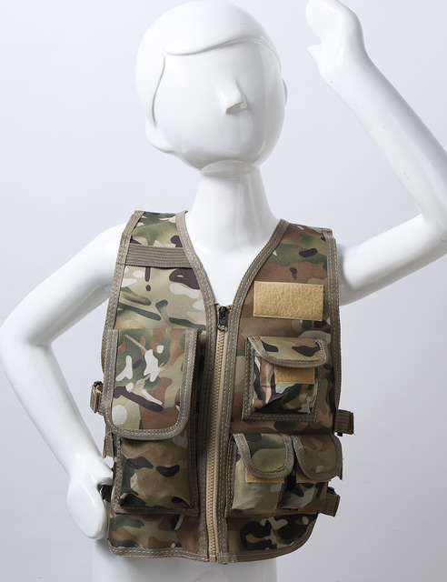 Military Kids Camouflage Hunting Clothes Men Combat Equipment Tactical Army Vest Children Cosplay Costume Airsoft Sniper Uniform 2