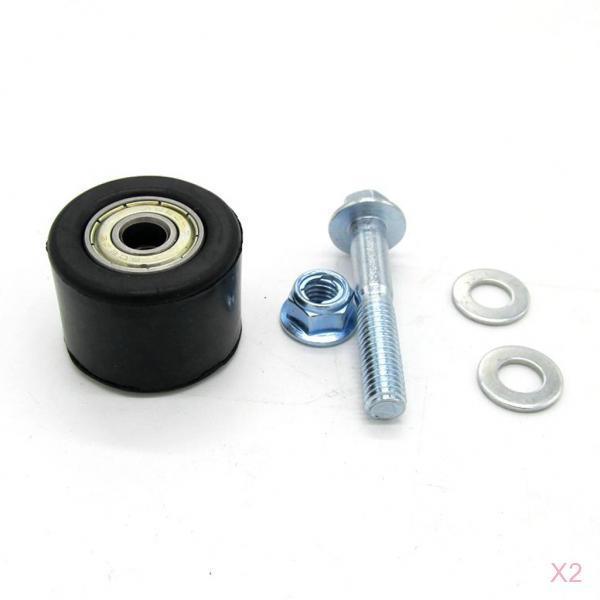 guia de corrente tensor de polia preta 2 conjuntos 8mm guia de rolo para yamaha yfz