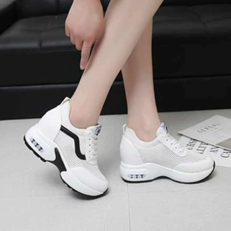 sneakers women Increased shoes 2020 spring autumn new mid-heel mesh breathable white shoes fashion casual sports shoes ladies