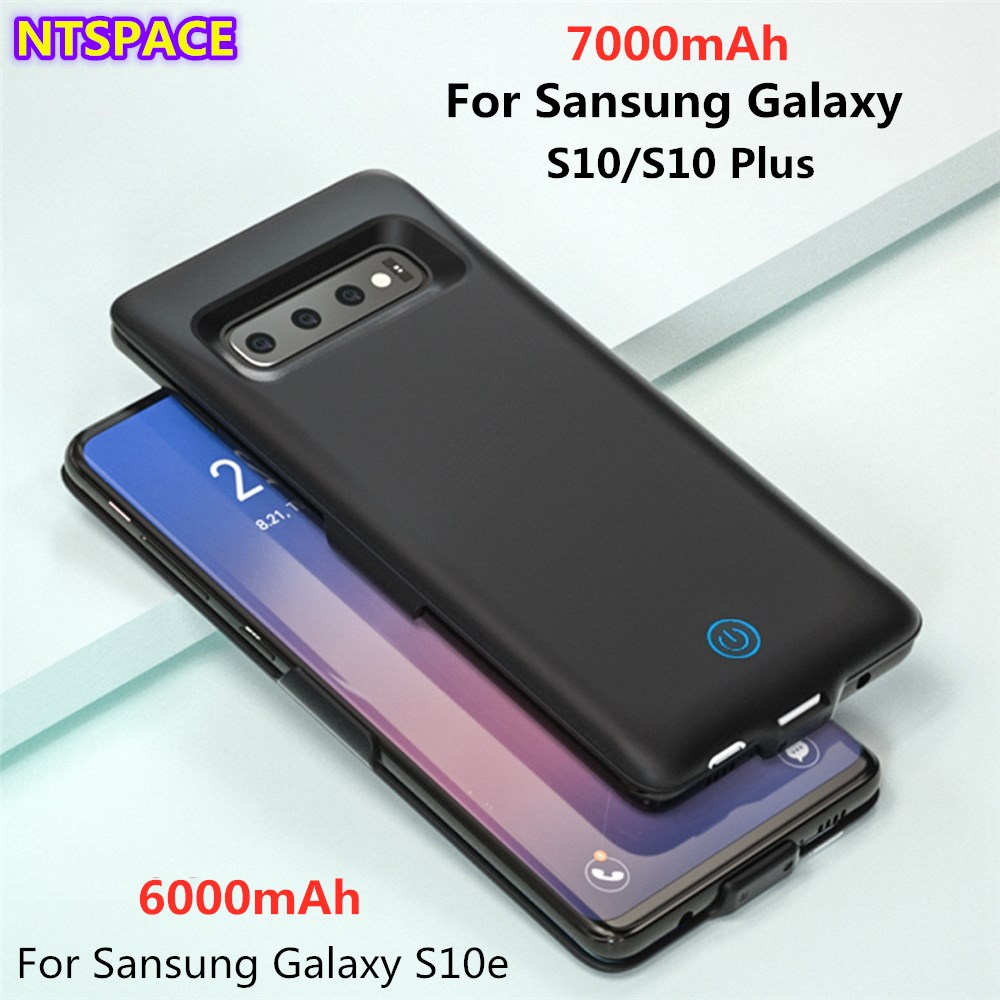 6000/7000mAh Portable Phone Battery Power Case For Samsung Galaxy S10 Plus Battery Charger Cover For Samsung S10/S10e Power Bank
