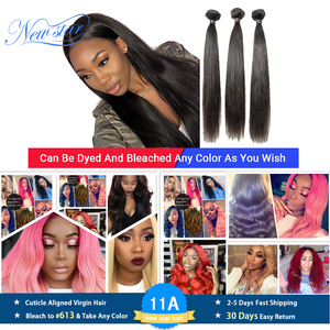 Image 1 - Pelo Liso peruano de 3 uds., extensión de cabello humano virgen, Color Natural, mechones de pelo grueso que tejido, envío gratis