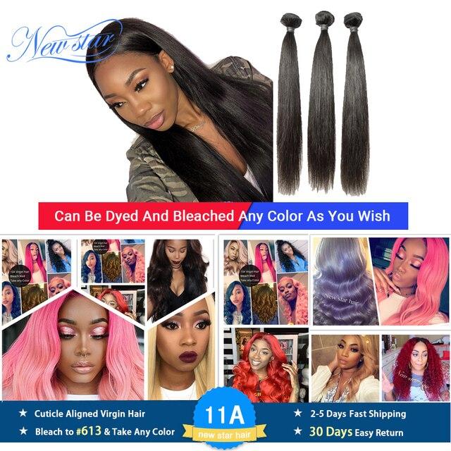 Pelo Liso peruano de 3 uds., extensión de cabello humano virgen, Color Natural, mechones de pelo grueso que tejido, envío gratis