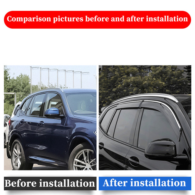 For BMW X5 E53 1998-2006 window visor car rain shield deflectors awning trim cover exterior car-styling accessories parts 4