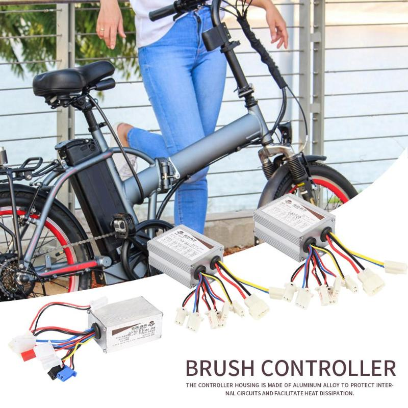 Brushed Controller 24V 350W Motor Brushed Controller Box for Electric Bicycles Scooter