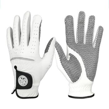 1pc rękawice golfowe miękkie Lambskin oddychające stuprocentowa skóra owcza z antypoślizgowymi granulkami wygodne akcesoria dla mężczyzn lewego prawego ręki tanie i dobre opinie Balight Prawdziwej skóry 1pcs Golf Gloves Soft Lambskin 22 23 24 25 26 27(Split left right hand) Soft comfortable breathable anti slip