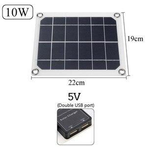 Image 5 - Зарядное устройство с двумя USB панелями для телефона, автомобильное зарядное устройство, контроллер для наружного кемпинга, светодиодный светильник, аккумулятор, двойной интерфейс USB, солнечная панель