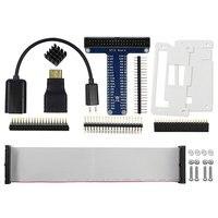Elecrow Raspberry Pi Zero/Zero W стартовый комплект 8 в 1 USB OTG кабель хоста Mini HDMI к HDMI адаптер GPIO Header акриловый чехол
