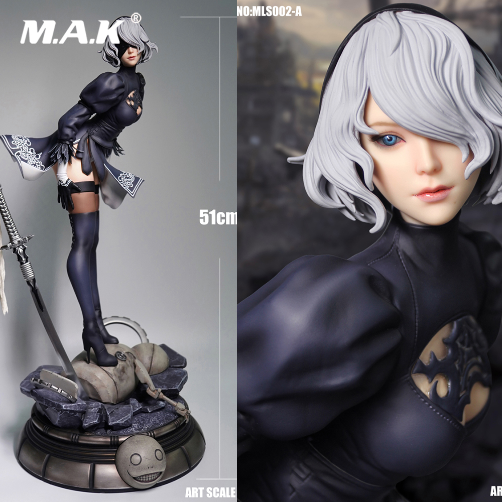 51CM MLS002 <font><b>1/4</b></font> Scale <font><b>Sexy</b></font> Girl Robot 2B Sister Neil Cosplay Yorha Neil Mechanical Full Set Action Figure Doll Statue Model image