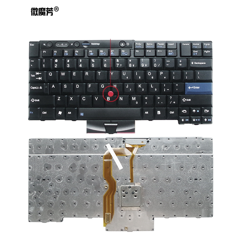 New English Keyboard For LENOVO Thinkpad T410 T420 X220 T510 T510i T520 T520i W510 W520 T400S T410I T420I X220i T410S T420S